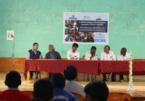 Dignitaries at the Radio Kotagiri function on 5th February 2016 (L-R, Mr. N. Ramakrishnan, Pratim Roy, Mr. Ramu, Mr. Vappu, Mr. Rajan, and Mr Soundharajan)