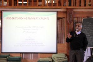 John Kurien speaking on property rights