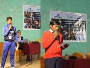 Students speaking at the function