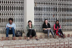 Survey team taking a breather at Ramchand's