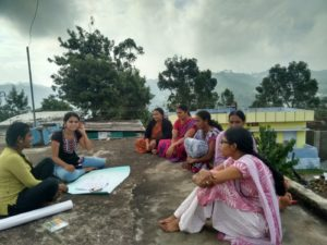 Interns conducting group discussions in the village