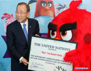 Red of the Angry Birds is Honorary Ambassador for Green