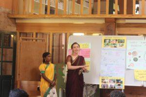 Shanthi and Wynn presenting on Community Wellness