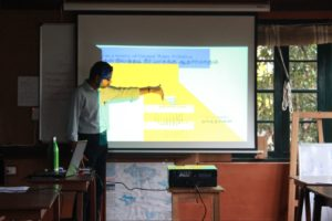 Bala explaining mechanisms of water contamination