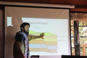 Gokul explaining geology
