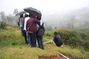 MGR Nagar - measuring spring discharge