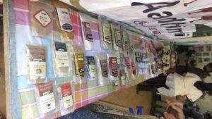 Aadhimalai products on display