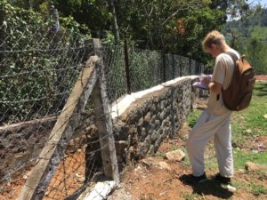 Keiran mapping fences as part of Human Gaur interactions project