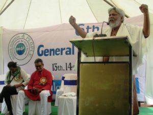 Dr. Rajendra Singh delivering the keynote address for the event